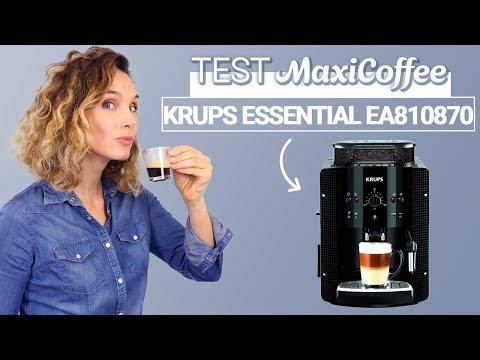 KRUPS ESSENTIAL EA810870   Machine à café grain   Le Test MaxiCoffee