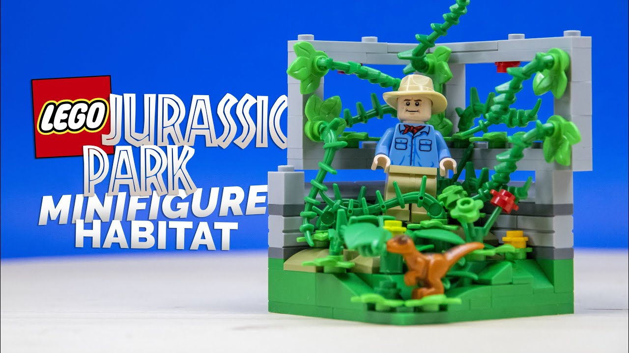 LEGO Jurassic Park ALAN GRANT Minifigure Habitat! // Custom LEGO Module MOC