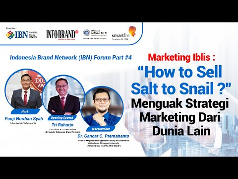 "Marketing Iblis: ""How to Sell Salt to Snail? "" Menguak Strategi Marketing Dari Dunia Lain"