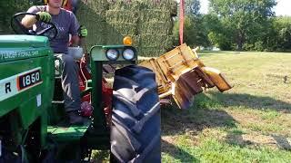 New holland bale wagon full load