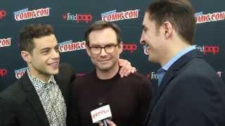 Mr. Robot's Rami Malek and Christian Slater at NYCC with Arthur Kade