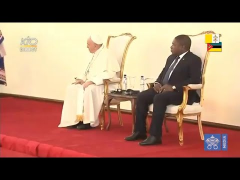 Rencontre du pape François avec les autorités du Mozambique