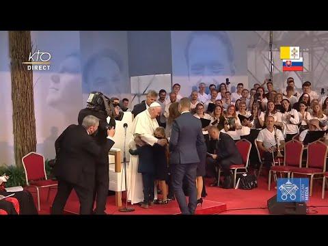 Rencontre du pape François avec les jeunes de Slovaquie