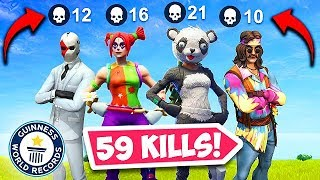 59 KILLS BY 1 SQUAD! *NEW WORLD RECORD* - Fortnite Funny Fails and WTF Moments! #334