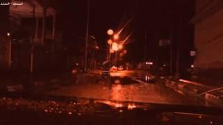 preview picture of video 'اجواء ليلية ممطرة في الشارع الاول من منطقة الخشابة مدينة السماوة'