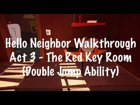 HOW TO UNLOCK DOUBLE JUMP ABILITY || Hello Neighbor Gameplay