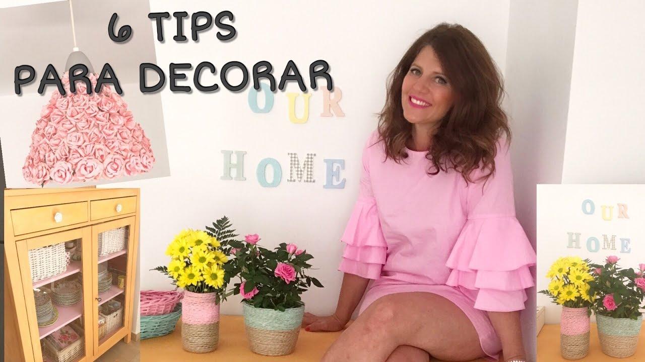 6 trucos fáciles para re decorar tu casa. Me ha quedado chulísima.