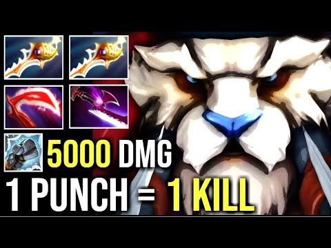 1 PUNCH 1 KILL Tusk 2x Rapier 5000+ Damage Makes Tinker Rage Epic Gameplay WTF Dota 2