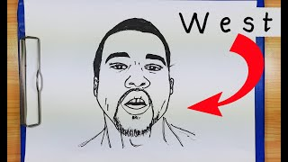 How To Turn Words WEST into  KANYE WEST | How To Draw KANYE WEST| Drawing Kanye West