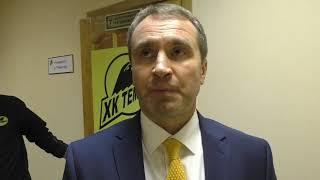 Послематчевое интервью главного тренера ХК «Темиртау» после матча с «ИРтышом»