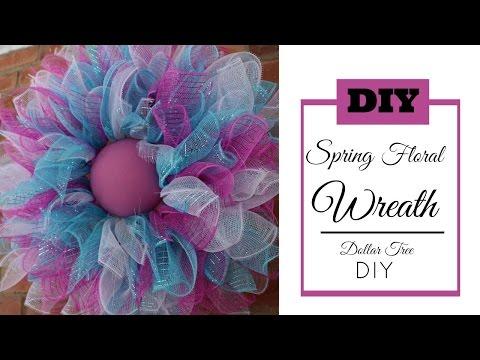 deco mesh spring wreath tutorial dollar tree diy hip n creative hip n 39 creative. Black Bedroom Furniture Sets. Home Design Ideas