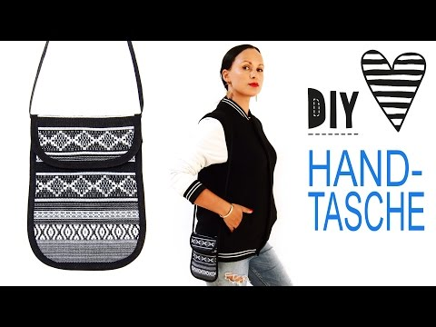 Mini-Handtasche oder Brustbeutel mit Schnittmuster nähen / DIY MODE