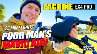 POOR MAN'S DJI MAVIC AIR - EACHINE EX4 Pro Gps Drone - Flights, Crashes, & Review ????????