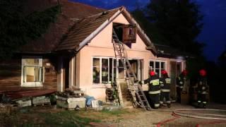 Pożar domu na ul. Różanej w Krośnie