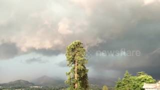 Incredible timelapse of storm clouds rolling across green fields