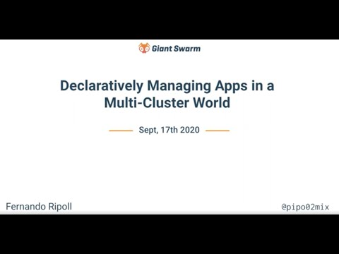 Declaratively managing apps in a multi-cluster world
