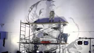 Pow Wow Hawaii Fundraiser Gala: Marilyn mural in 7 minutes
