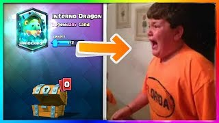 fat kid starts raging after getting the wrong legendary in clash royale [Lash Clash] - Video Youtube
