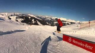 preview picture of video 'Kitzbühel Mercedes-Benz Snowpark 2014 - GoPro HD'