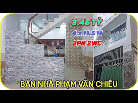 Bán nhà Gò Vấp đẹp rẻ 2019 | Giá 3.45 tỷ, DT 4x11,5m, đúc 1 trệt 1 lầu, hẻm chợ phường 14, Gò Vấp