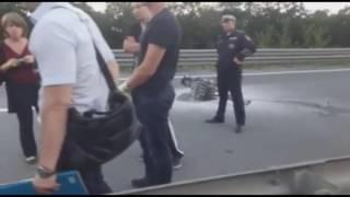 Первые кадры с места смертельной аварии с участием известной во Владивостоке девушки-байкера