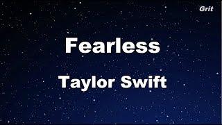 Fearless – Taylor Swift Karaoke【No Guide Melody】