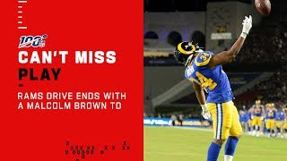 Malcolm Brown TD Caps off Rams Drive