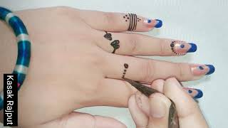 R Letter Mehndi Design For Back Hand Side   Tattoo Mehndi Design For Fingers