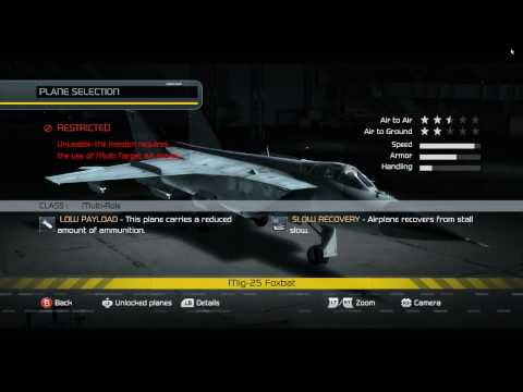 H.A.W.X. - All Flyable Planes Overview - Part 2 / 2 [720p HD]