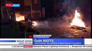 UON students burn down hostels in protest of the murder of fellow student