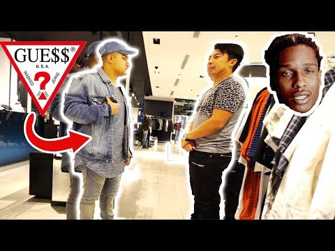 WEARING FAKE GUESS TO THE GUESS STORE!! (MANAGER LOVED IT)