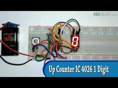 Electronic visitor count cd 4026 ic and IR sensor - electro