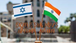 Israelis singing the Indian national anthem