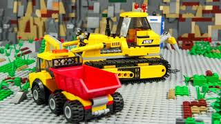 Police Cars, Fire Truck, Train, Ambulance, Excavator & Tractor LEGO Toy Vehicles for Kids