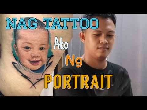 colored portrait tattoo art by reck tattoo ph