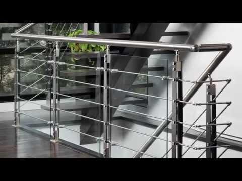 rampe d 39 escalier moderne en kit beau look du stainless autre laval rive nord kijiji. Black Bedroom Furniture Sets. Home Design Ideas