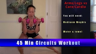 45 min Core&Cardio vs. Arms&Legs