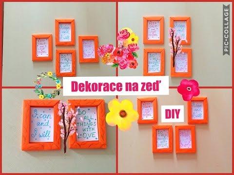 Origami rámeček DIY. Dekorace na zeď. Dekorativní úprava zdí. Rámečk na fotky.