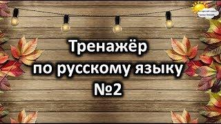 Тренажёр по русскому языку №2. Учимся играя.