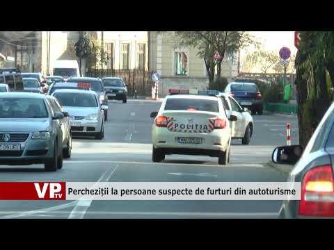 Percheziții la persoane suspecte de furturi din autoturisme