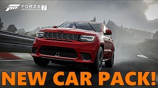 Forza Motorsport 7 NEW CAR PACK!! All Cars Revealed! Jeep Trailcat and MORE!