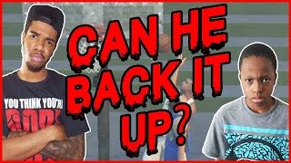 CAN HE BACK UP THE CRAP TALK!! - NBA 2K16 Head to Head Blacktop Gameplay