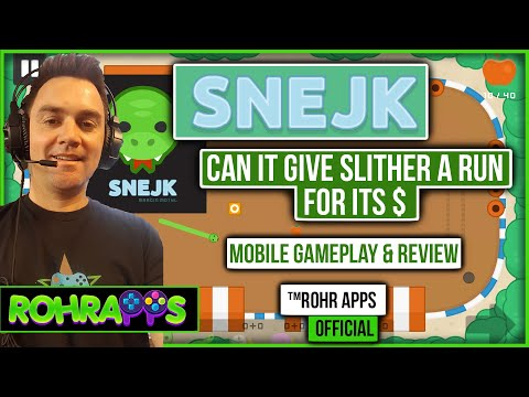 SNEJK- Not just another snake game? | mobile gameplay and review |™ROHR APPS OFFICIAL