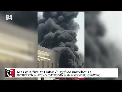 Massive fire at Dubai duty free warehouse