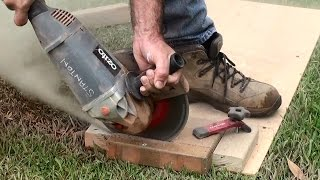 How to cut pavers Jig for holding paving bricks # 22