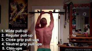 5x5 Amazing pull-up workout for beginners 100 Pull-ups! by AvgJoeFitness
