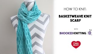 Basketweave Knit Scarf Tutorial