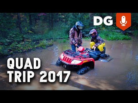 SUZUKI VINSON vs KINGQUAD: ATV & Fishing Trip 2017