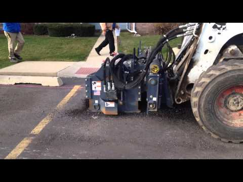 RoadHog CP40-G5 Controlled Depth Milling Parking Stalls