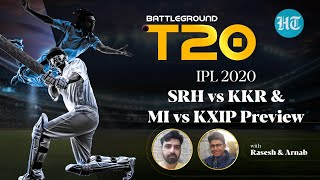 RR vs RCB & DC vs CSK Review and SRH vs KKR & MI vs KXIP Preview on Battleground T20